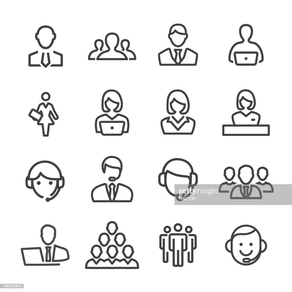 Business and Service Icons - Line Series : stock illustration