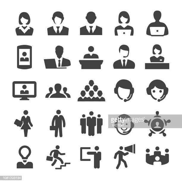 business and service icons - smart series - salesman stock illustrations