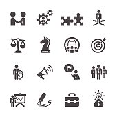 business and strategy icon set, vector eps10