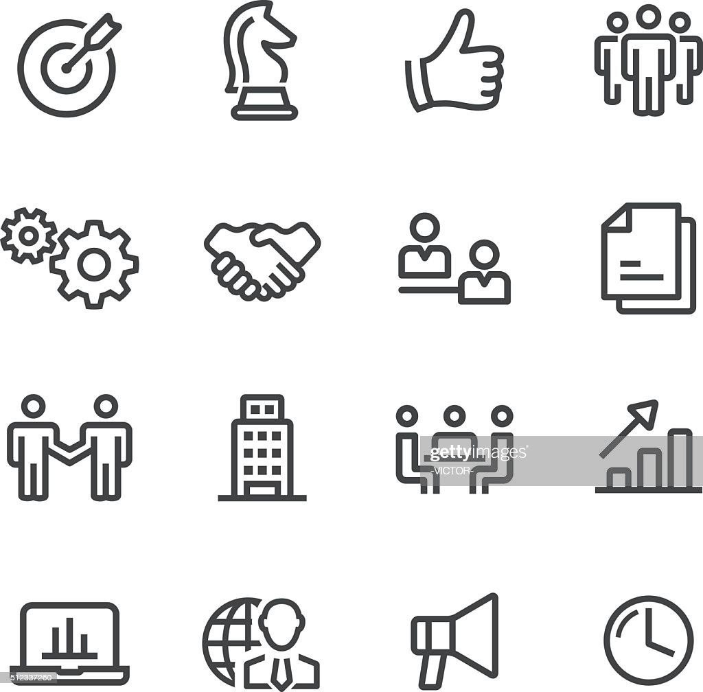 Business and Strategy Icons - Line Series : Stock Illustration