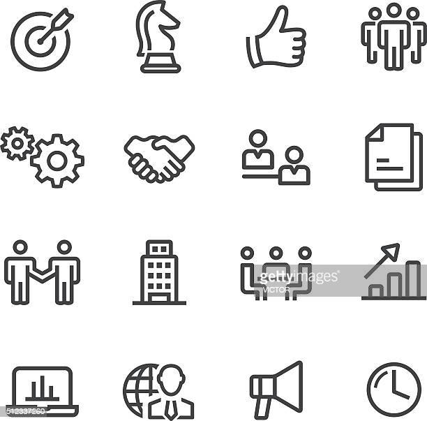 business and strategy icons - line series - handshake stock illustrations, clip art, cartoons, & icons