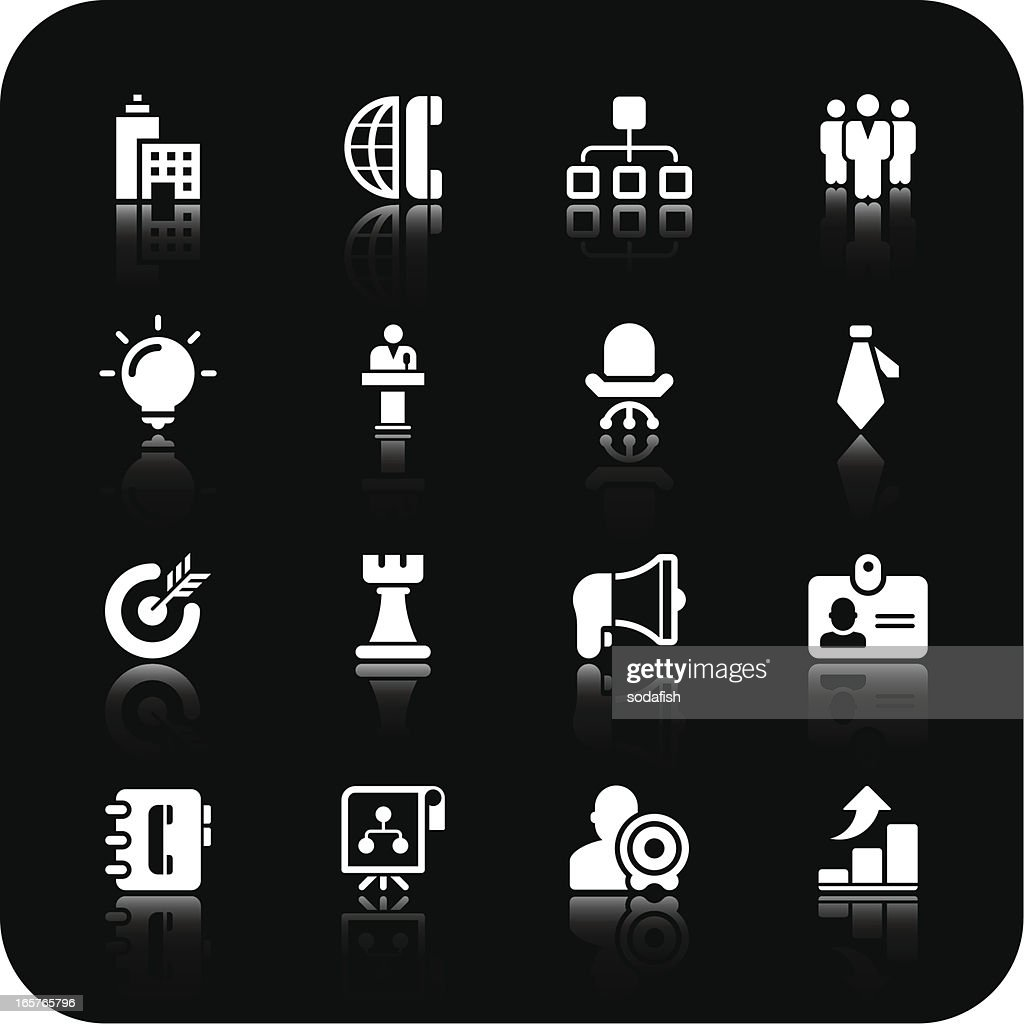business and strategy icons | white series