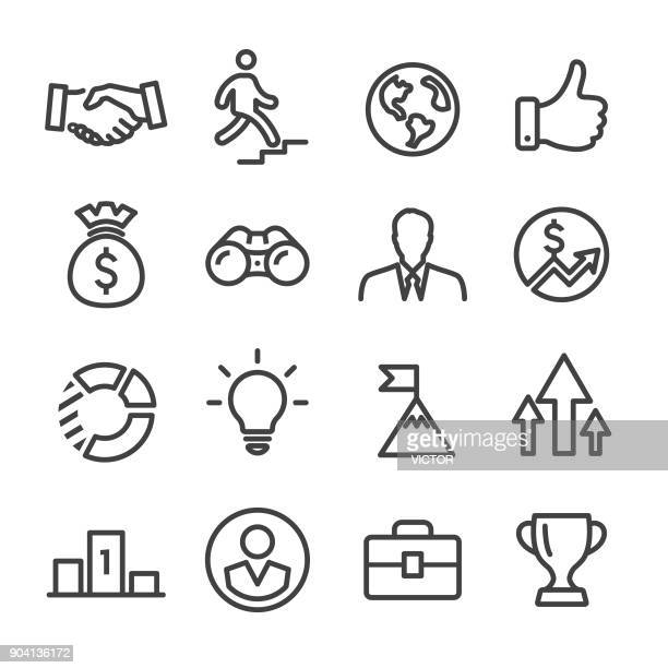 business and success icons - line series - binoculars stock illustrations