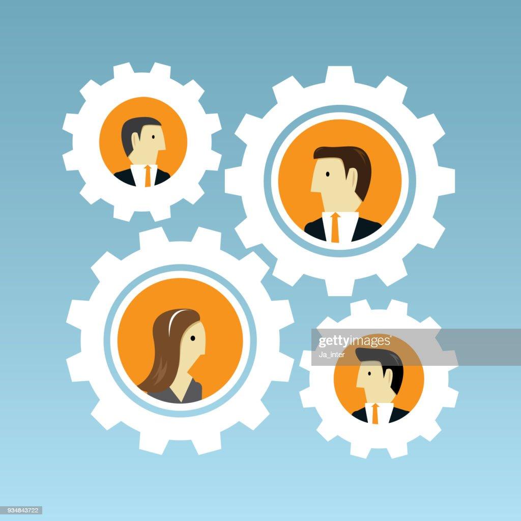 Business and teamwork : stock illustration