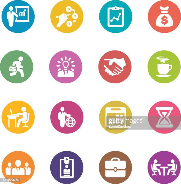 Business and workflow Circle Colour Harmony icons | EPS10