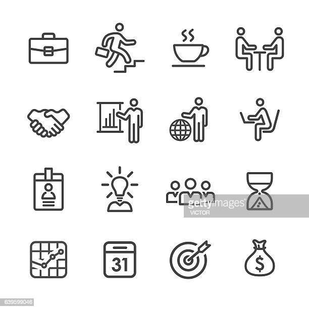 business and workflow icons - line series - corporate hierarchy stock illustrations, clip art, cartoons, & icons