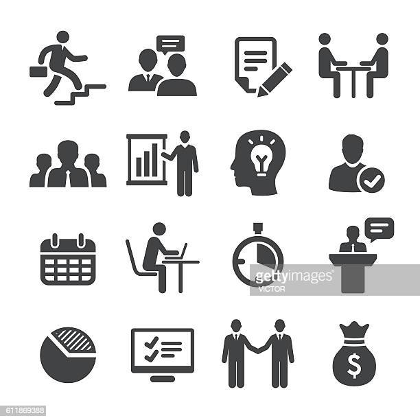 business and workflow icons set - acme series - corporate hierarchy stock illustrations, clip art, cartoons, & icons