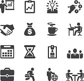 Business and workflow Silhouette icons | EPS10