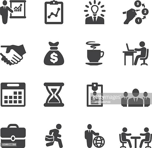 business and workflow silhouette icons | eps10 - group of animals stock illustrations, clip art, cartoons, & icons