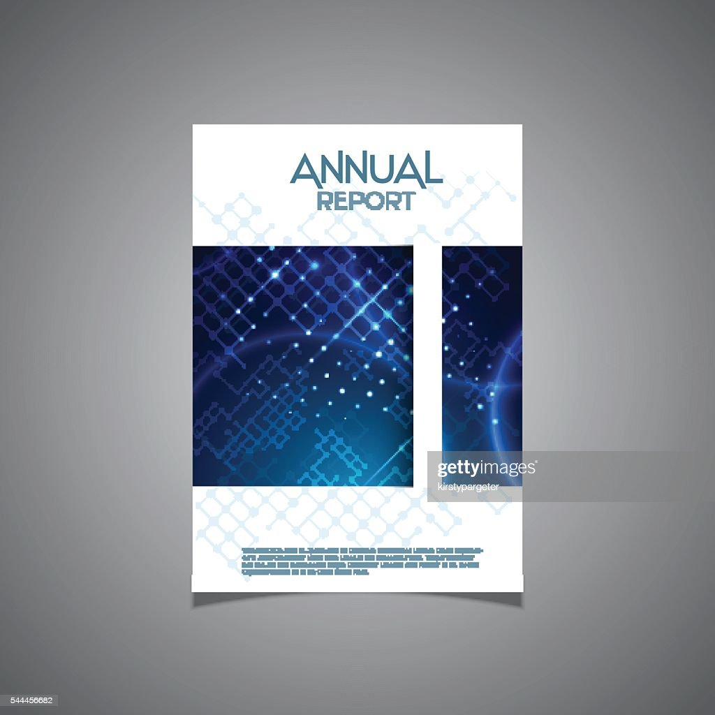 Business annual report cover design