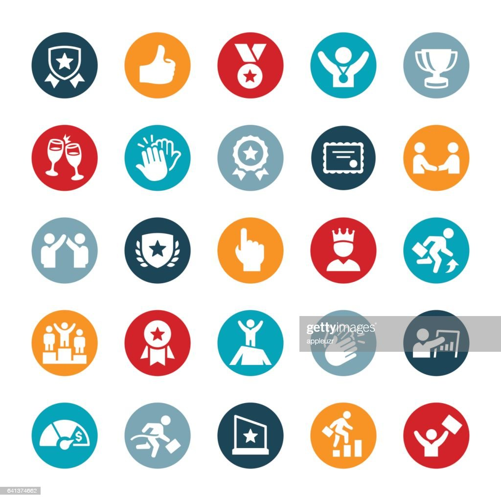 Business Award and Recognition Icons : stock illustration
