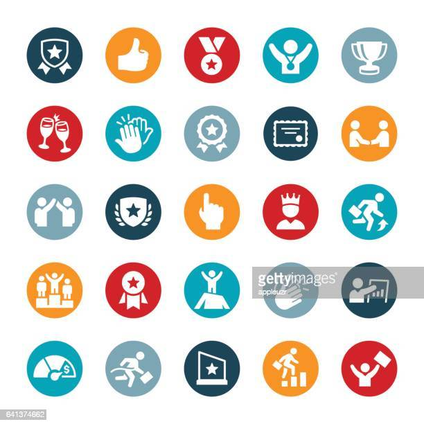 business award and recognition icons - incentive stock illustrations, clip art, cartoons, & icons