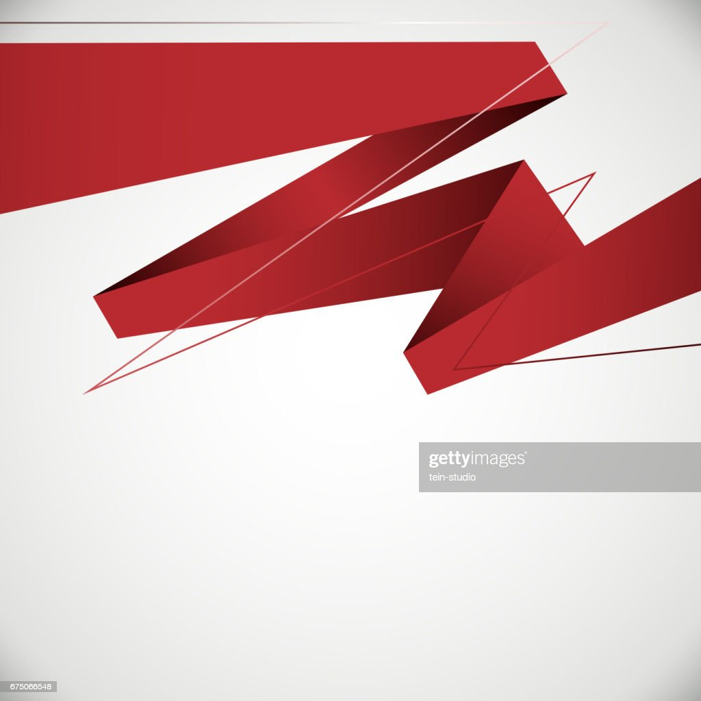Business Background Design Red Origami