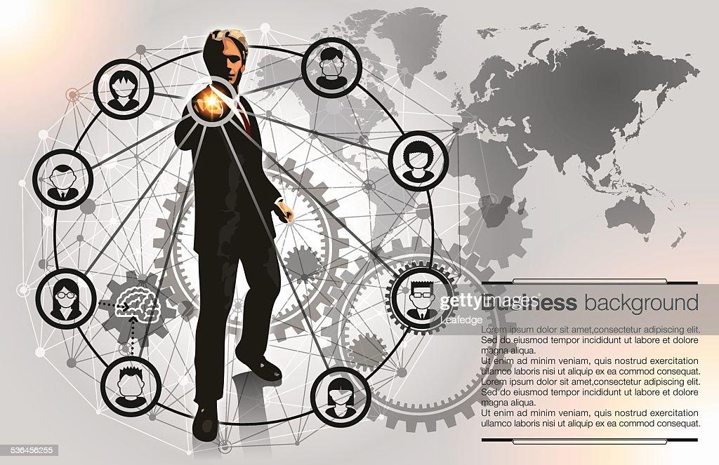 Business background[Leadership and Teamwork] : stock illustration