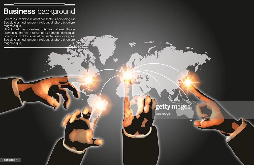 Business background[Network pointing] : stock illustration