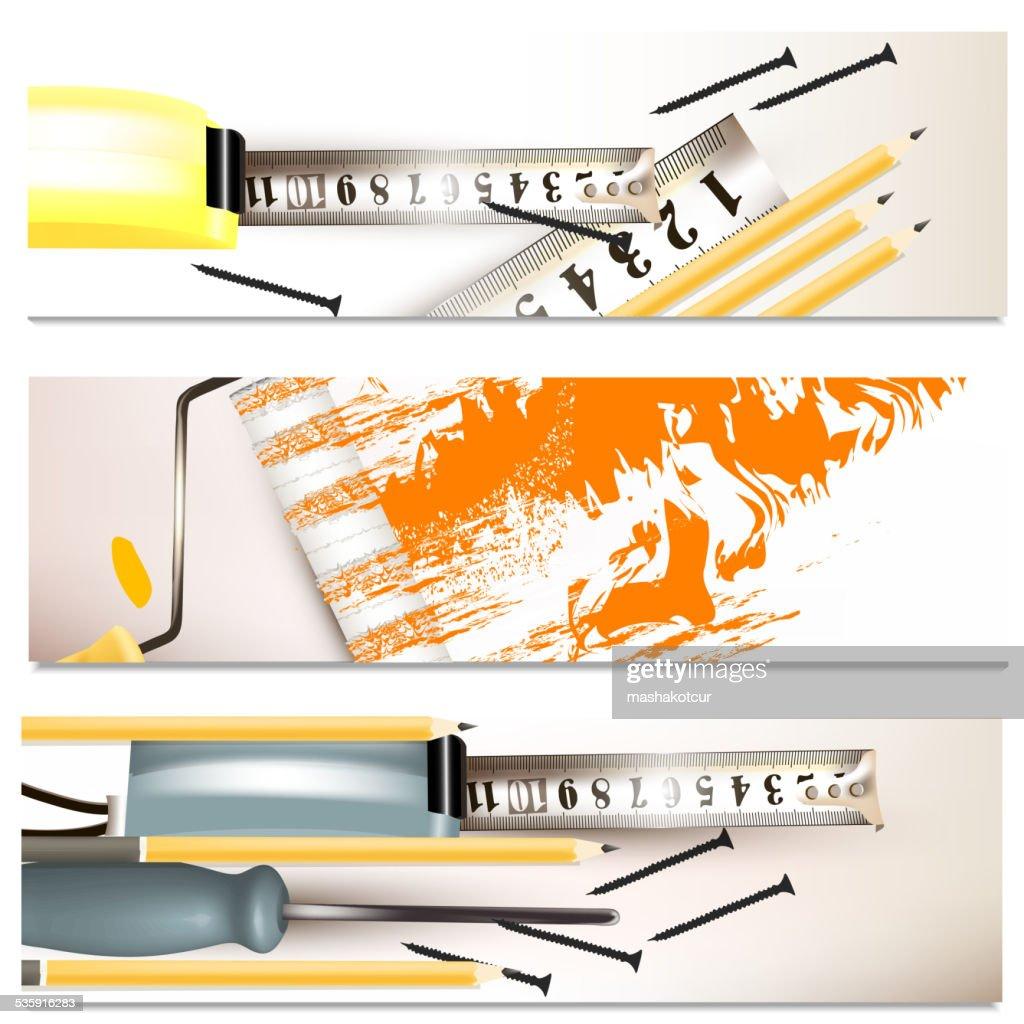 Fondos de negocio conjunto con instrumentos de reparación : Arte vectorial