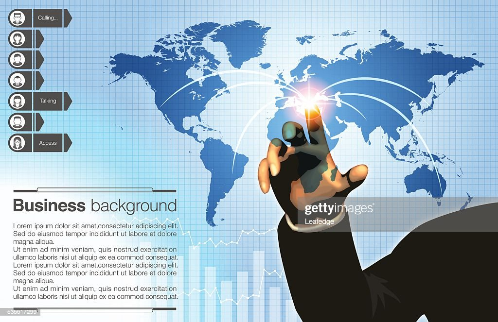 Business background[World network]