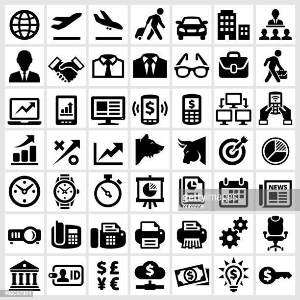 Business Banking and Finance royalty free vector interface icon set