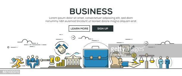 Business banner and icons