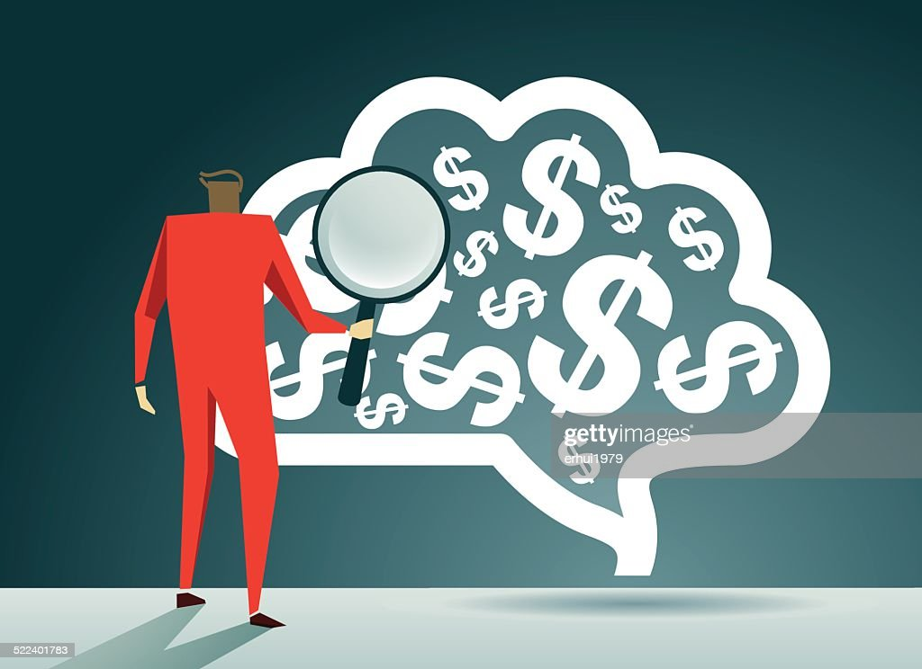 Business, Brain, Dollar Sign : Vector Art