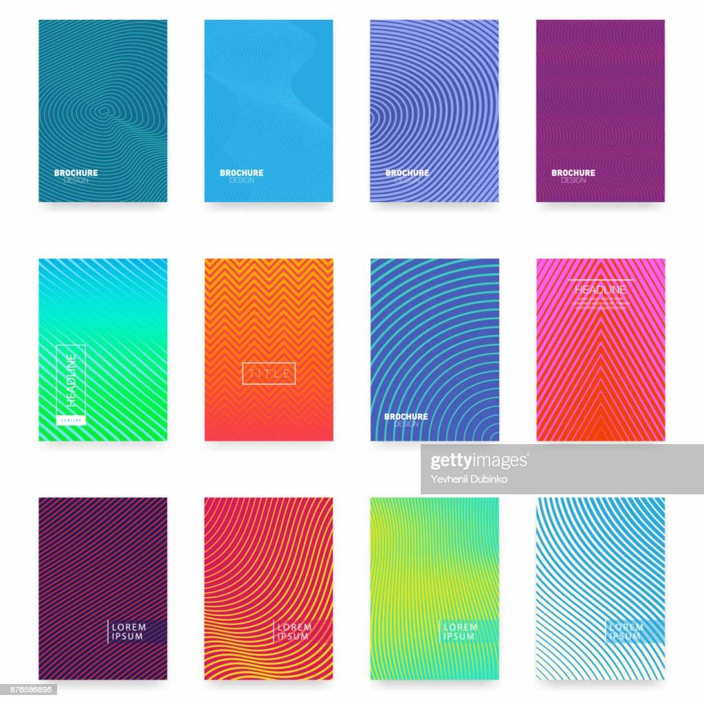 Business brochure cover design. Abstract geometric template. Set of minimal covers design