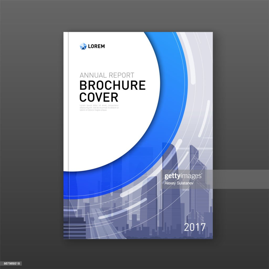 Business brochure cover design layout