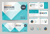 business brochure design template and page layout for company profile, annual report,with page cover design