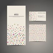 Business brochure flyer, business card and card with pattern