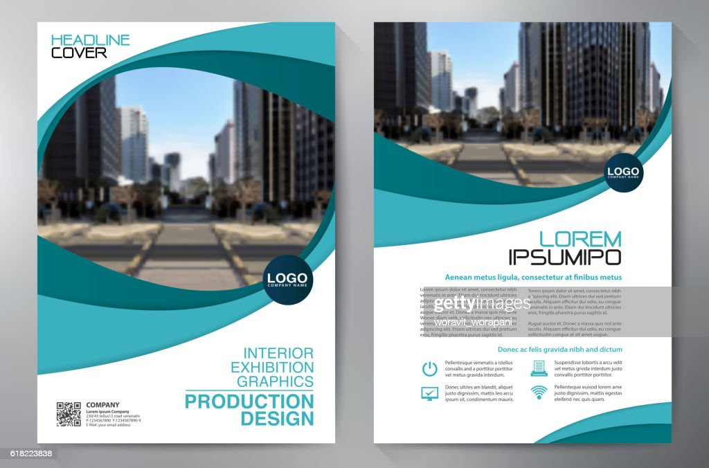 Business brochure flyer design a4 template.