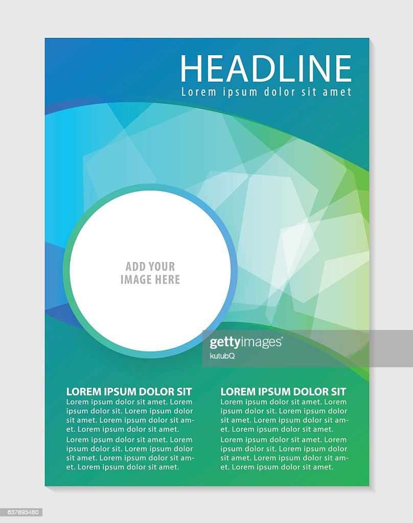 business brochure flyer design template ベクトルアート getty images