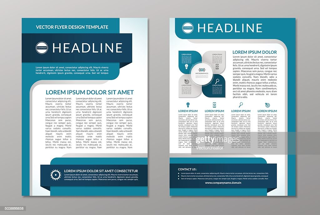 Business brochure flyer layout template. A4 size