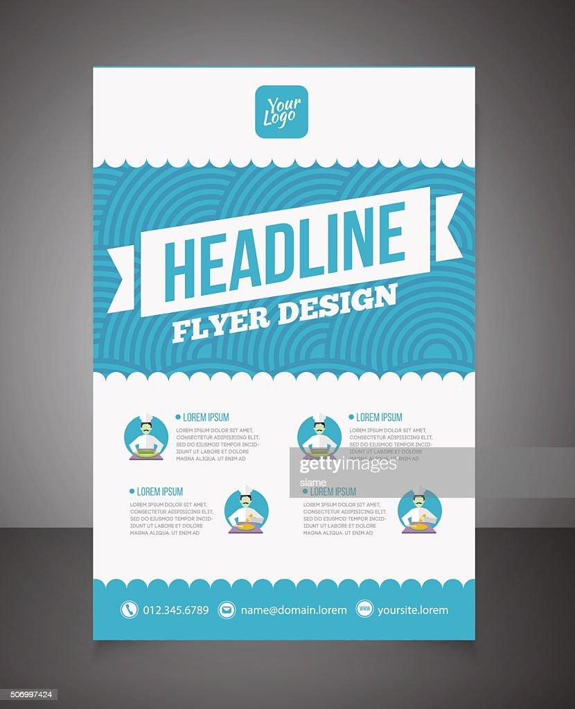 Business brochure or offer flyer design template.
