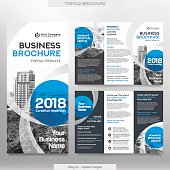 Business Brochure Template in Tri Fold Layout.