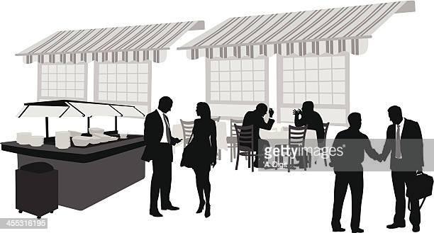 Business Buffet Vector Silhouette