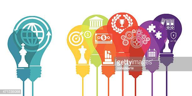 business bulbs and finance - power supply box stock illustrations, clip art, cartoons, & icons