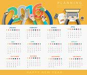 Business calendar 2016