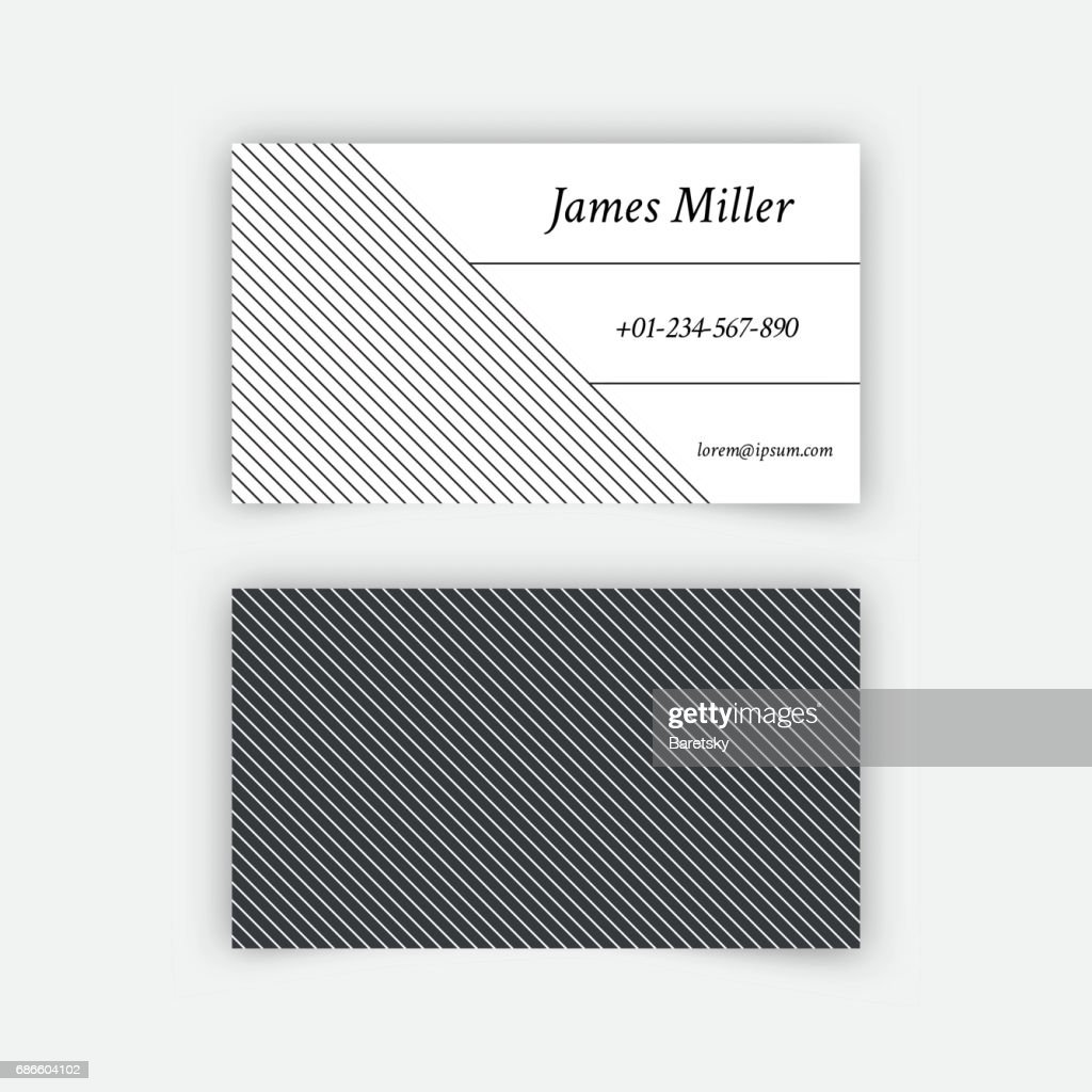 Business card blank template vector art getty images business card blank template vector art friedricerecipe Gallery