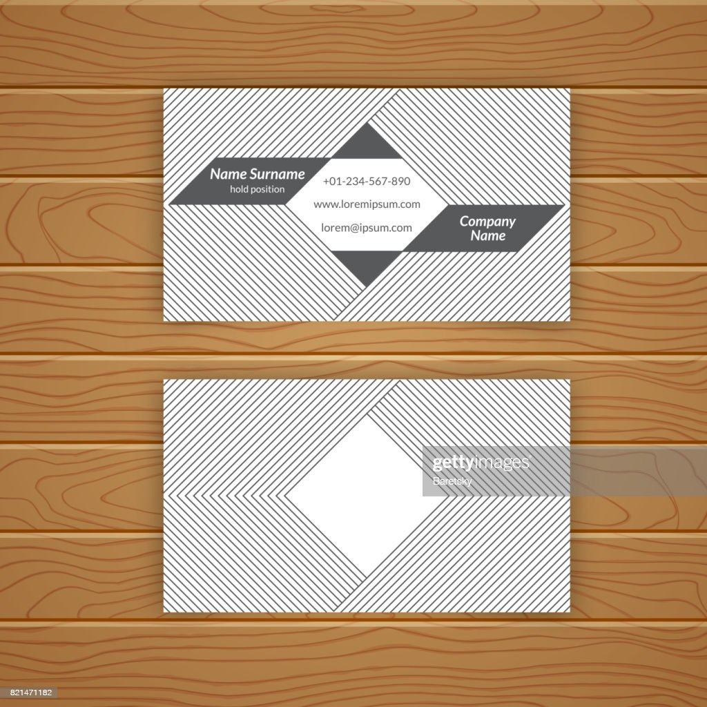 Business card blank template vector art getty images business card blank template vector art reheart Images