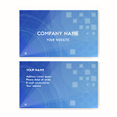 Business card blue. Clean water.