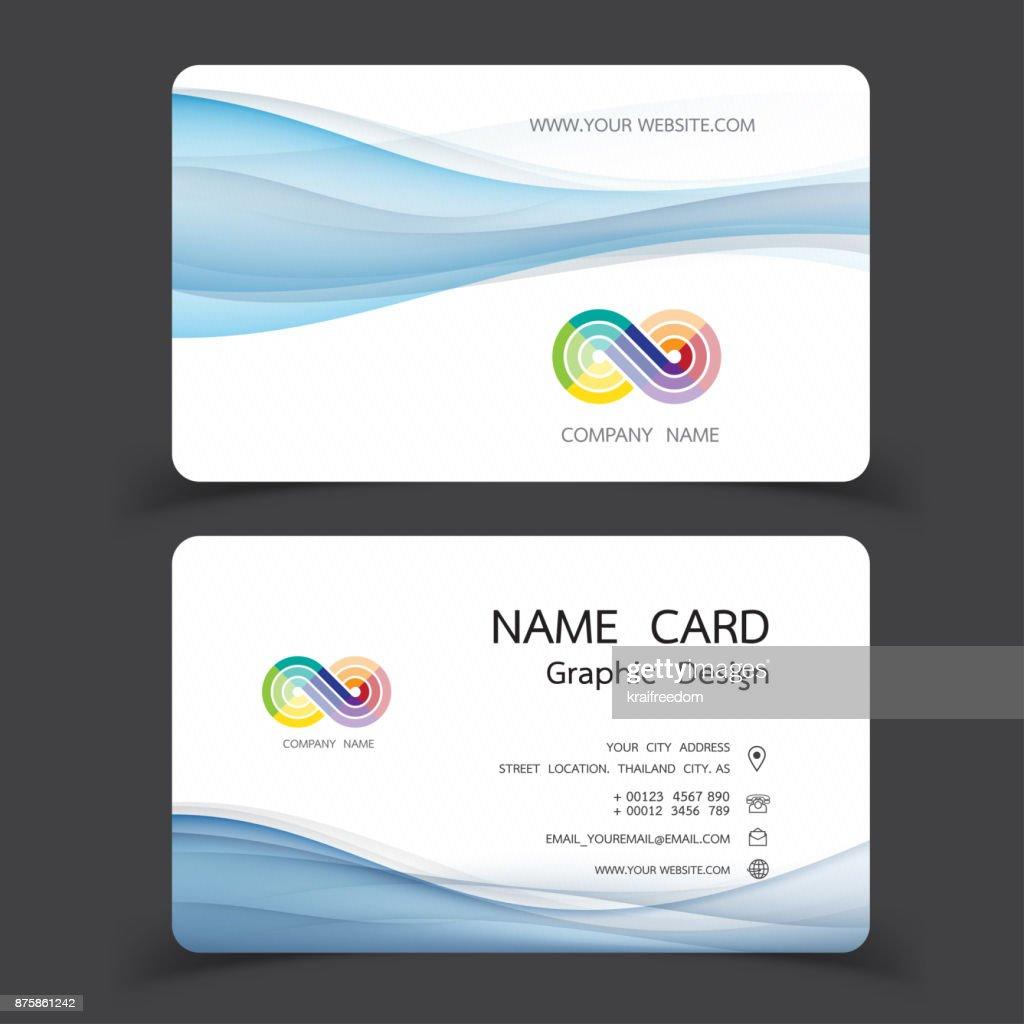 Business card design set vector illustrations vector art getty images business card design set vector illustrations vector art reheart Images