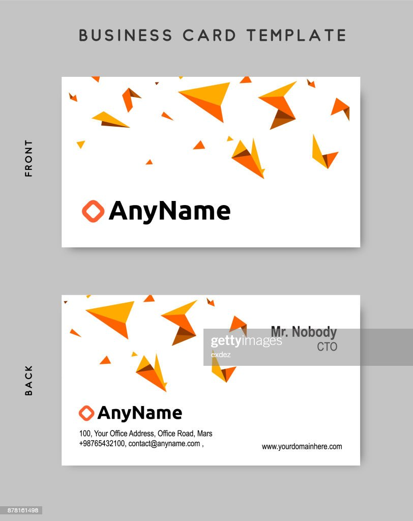 Business Card Design Template Vector Art   Getty Images