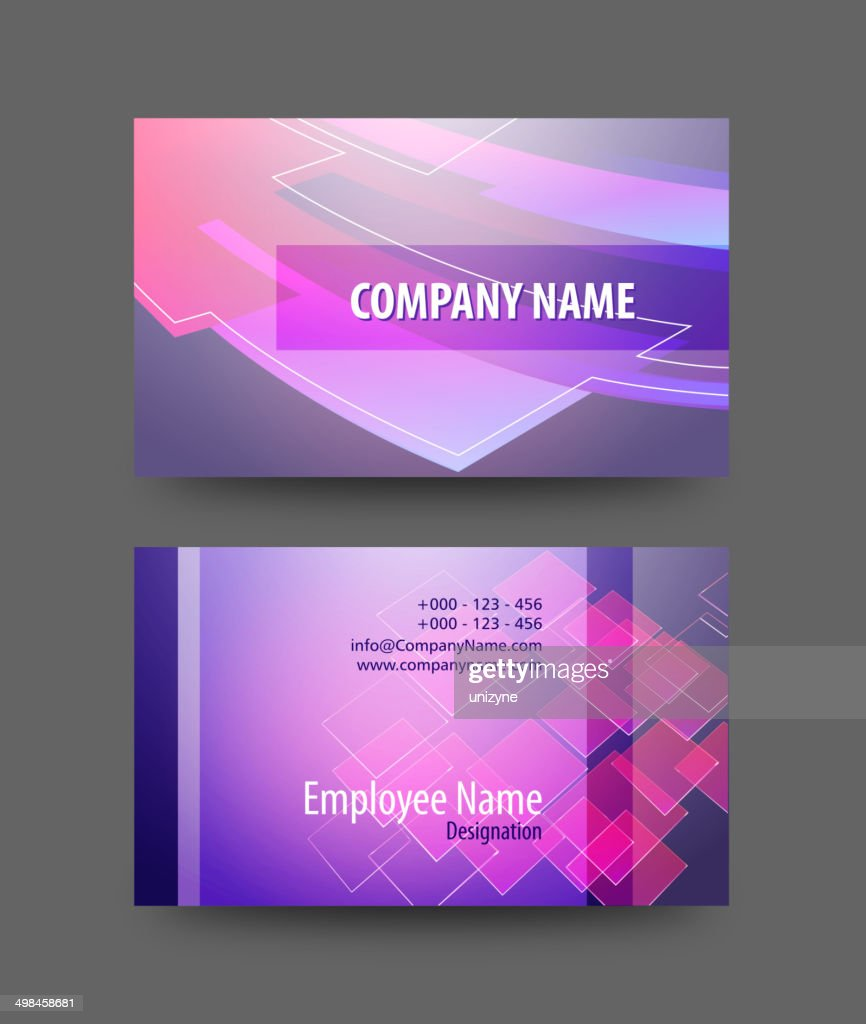 Business Card Design Vector Art | Getty Images
