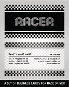 Business card driver race