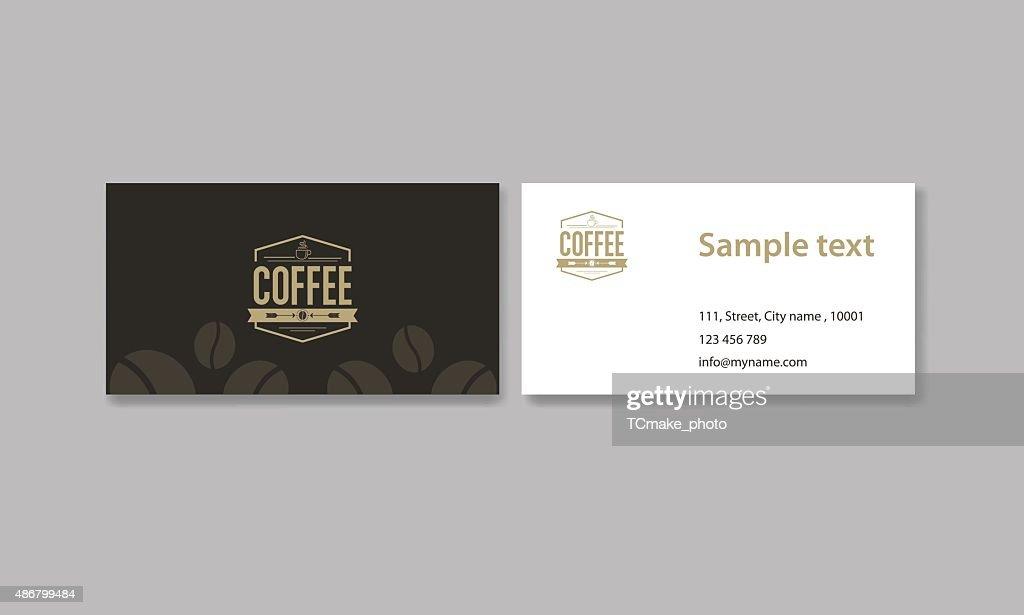 Carte De Visite Pour Le Cafe Et Restaurant Logo Clipart Vectoriel