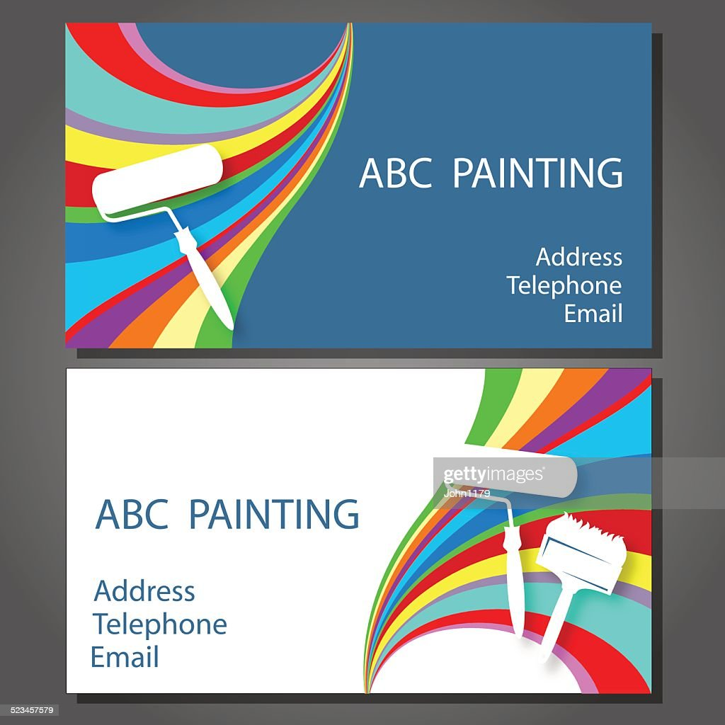 Business cards for painters gallery free business cards business card for painter choice image free business cards business card for painting vector art getty magicingreecefo Gallery