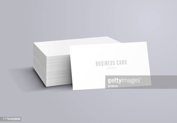 business card mockup - model stock illustrations