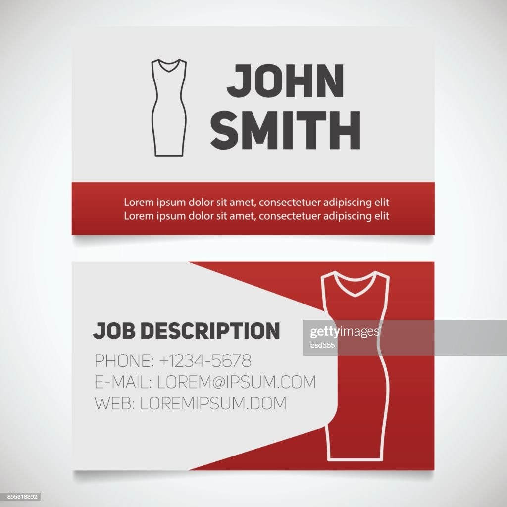 Business card print template with evening dress sign vector art business card print template with evening dress sign fbccfo Choice Image