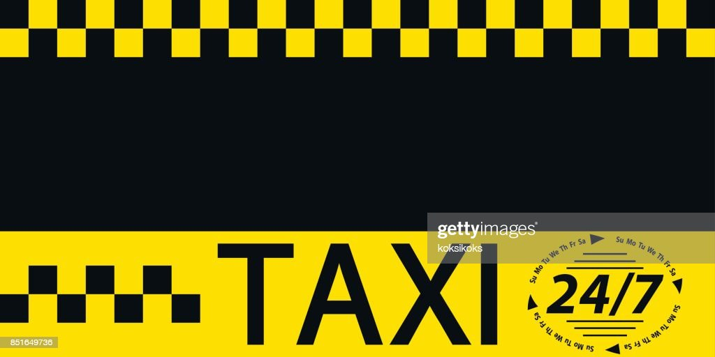 Business card taxi banner