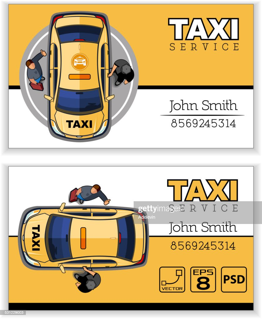 Carte De Visite Taxi Clipart Vectoriel