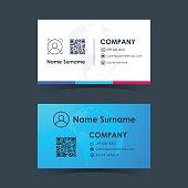 Business card template design. Vector illustration.